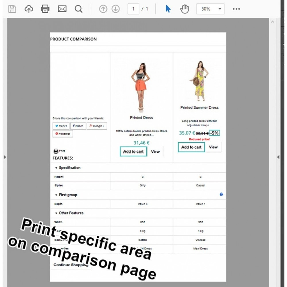 module - Porównywarki cen - Product Comparison Highlighter/Print Compare Area Only - 2