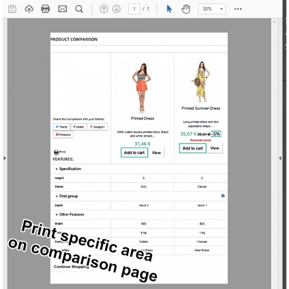 module - Price Comparison - Product Comparison Highlighter/Print Compare Area Only - 2