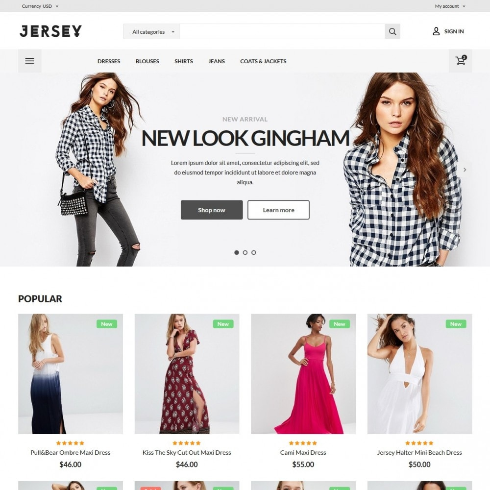 theme - Mode & Chaussures - Jersey Fashion Store - 2