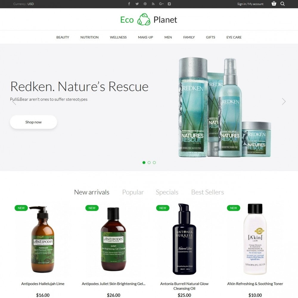 theme - Salute & Bellezza - Eco Planet Store - 2