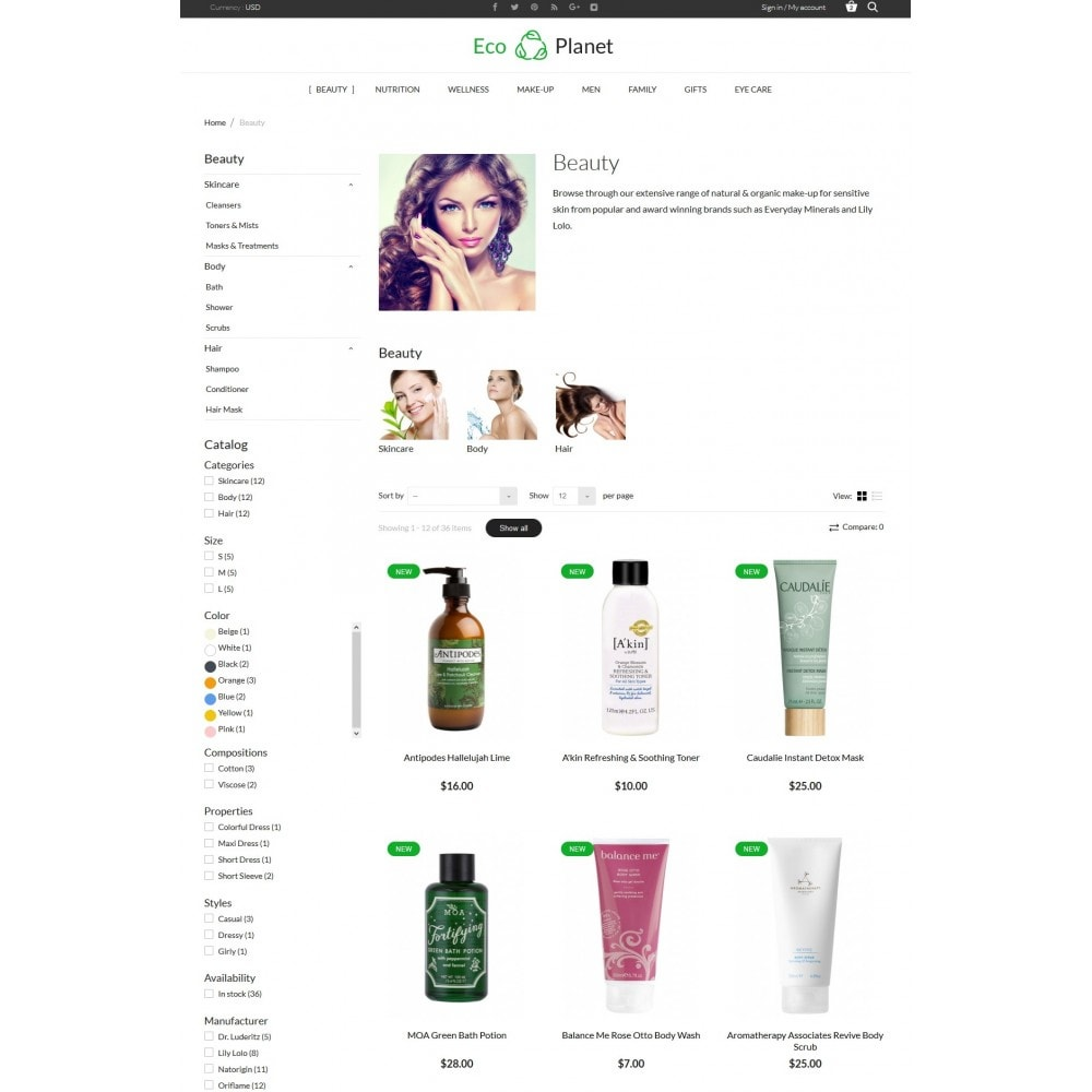 theme - Salute & Bellezza - Eco Planet Store - 5