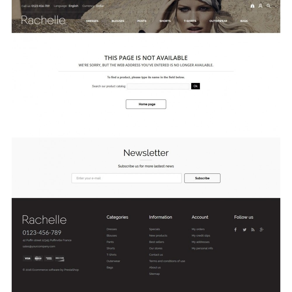 theme - Мода и обувь - Rachelle Fashion Store - 9