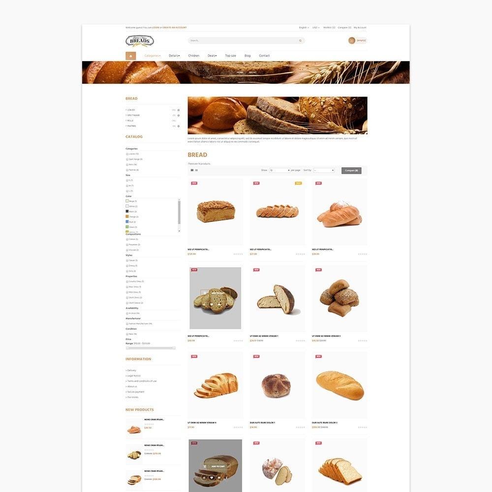 theme - Alimentos & Restaurantes - Leo Bread - 2