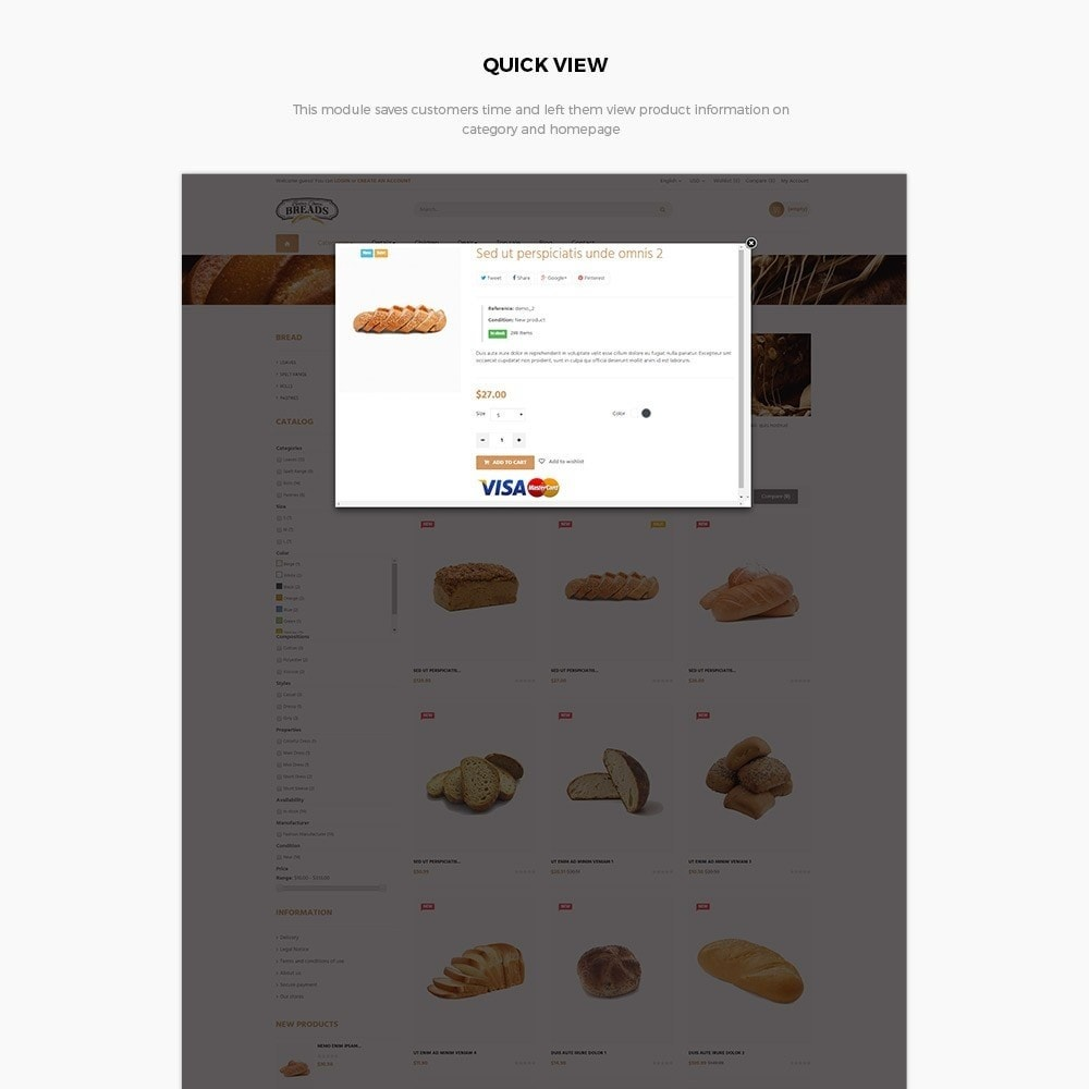 theme - Alimentos & Restaurantes - Leo Bread - 5