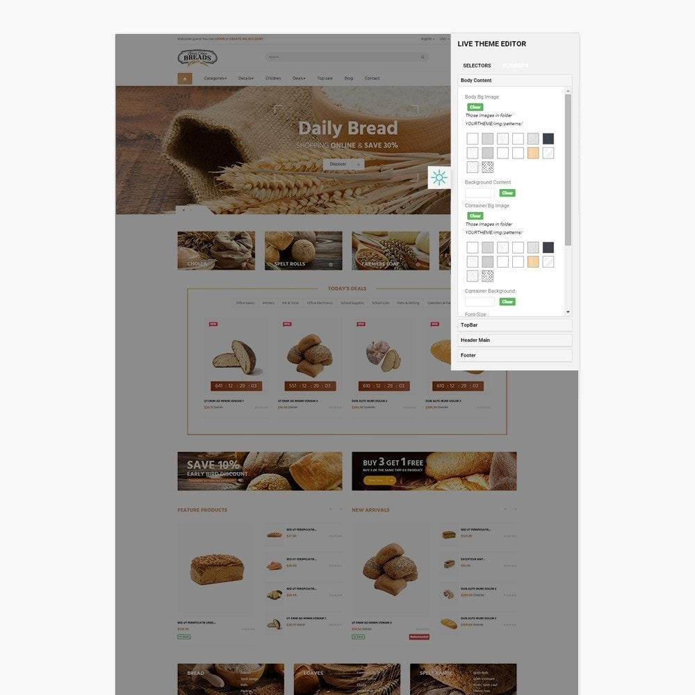 theme - Alimentation & Restauration - Leo Bread - Food & Loaf PrestaShop Theme - 6