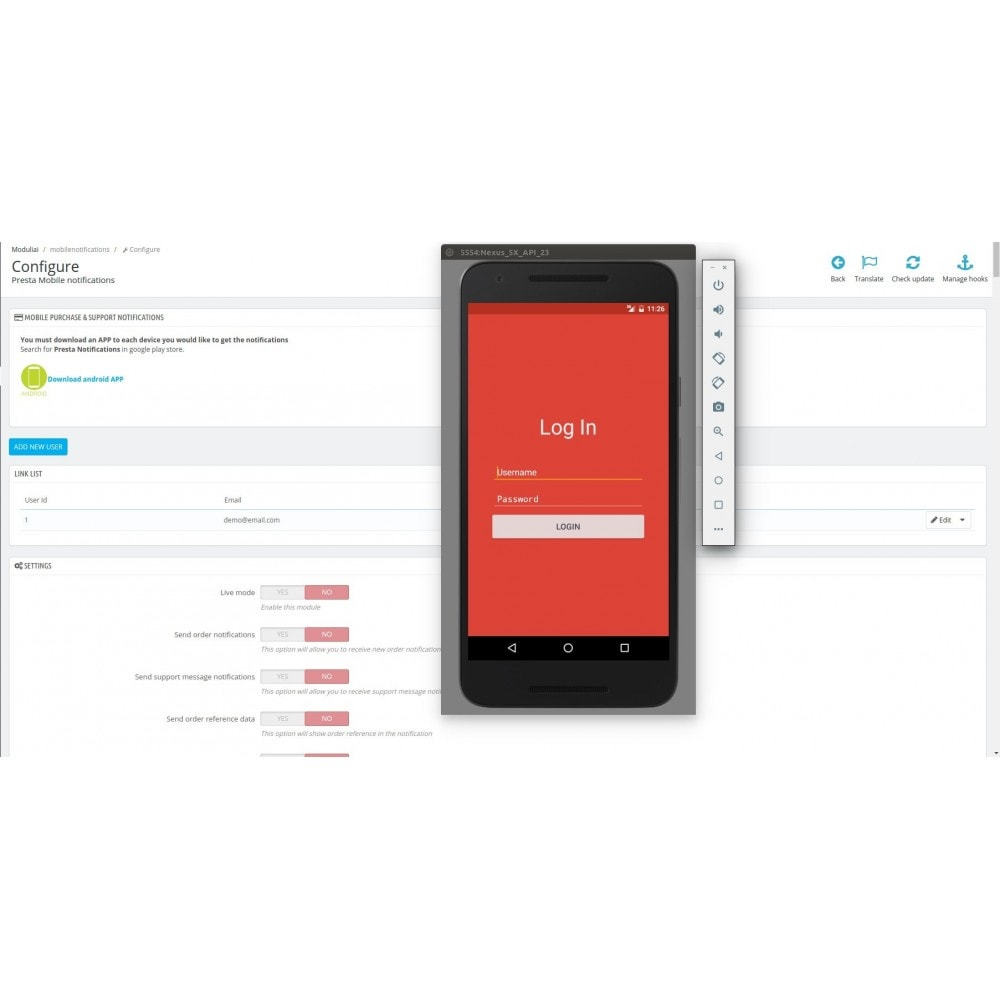 module - Zarządzanie zamówieniami - Mobile Order & Support Android Notifications - 4