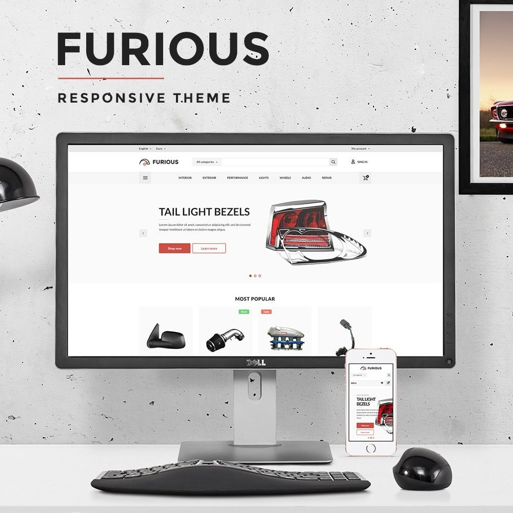 theme - Automotive & Cars - Furious Store - 1
