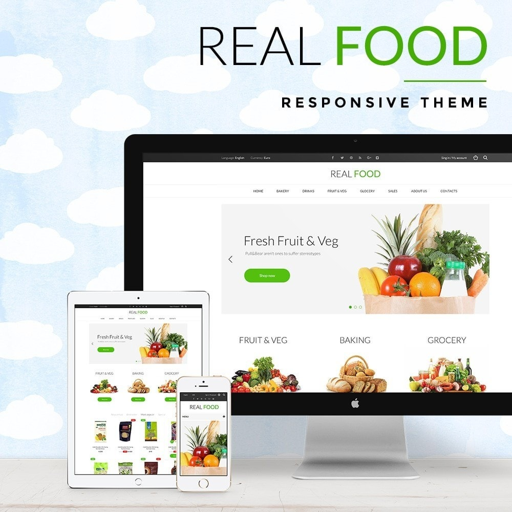 theme - Alimentos & Restaurantes - Real Food Store - 1