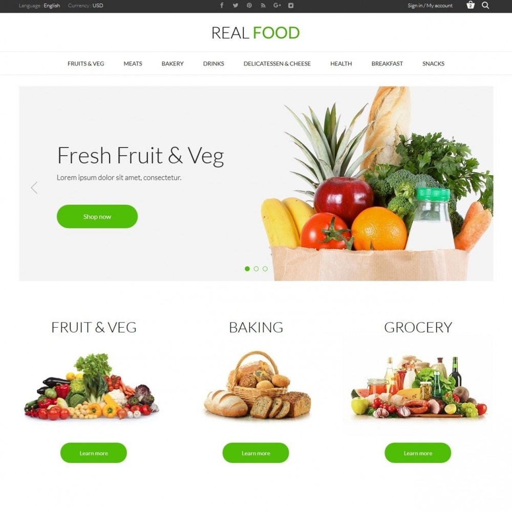 theme - Alimentos & Restaurantes - Real Food Store - 2