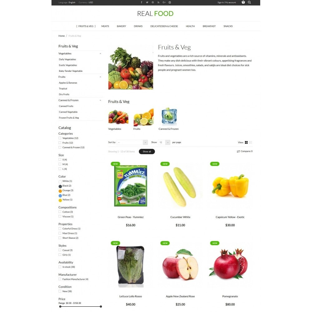 theme - Alimentos & Restaurantes - Real Food Store - 5
