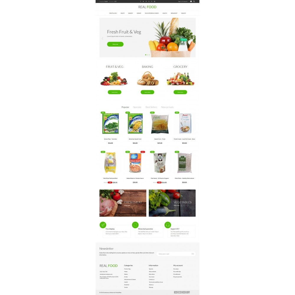 theme - Alimentos & Restaurantes - Real Food Store - 6