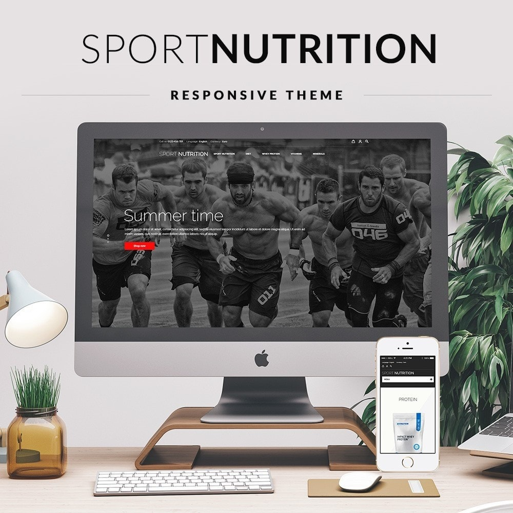 theme - Sports, Activities & Travel - Sport Nutrition Store - 1