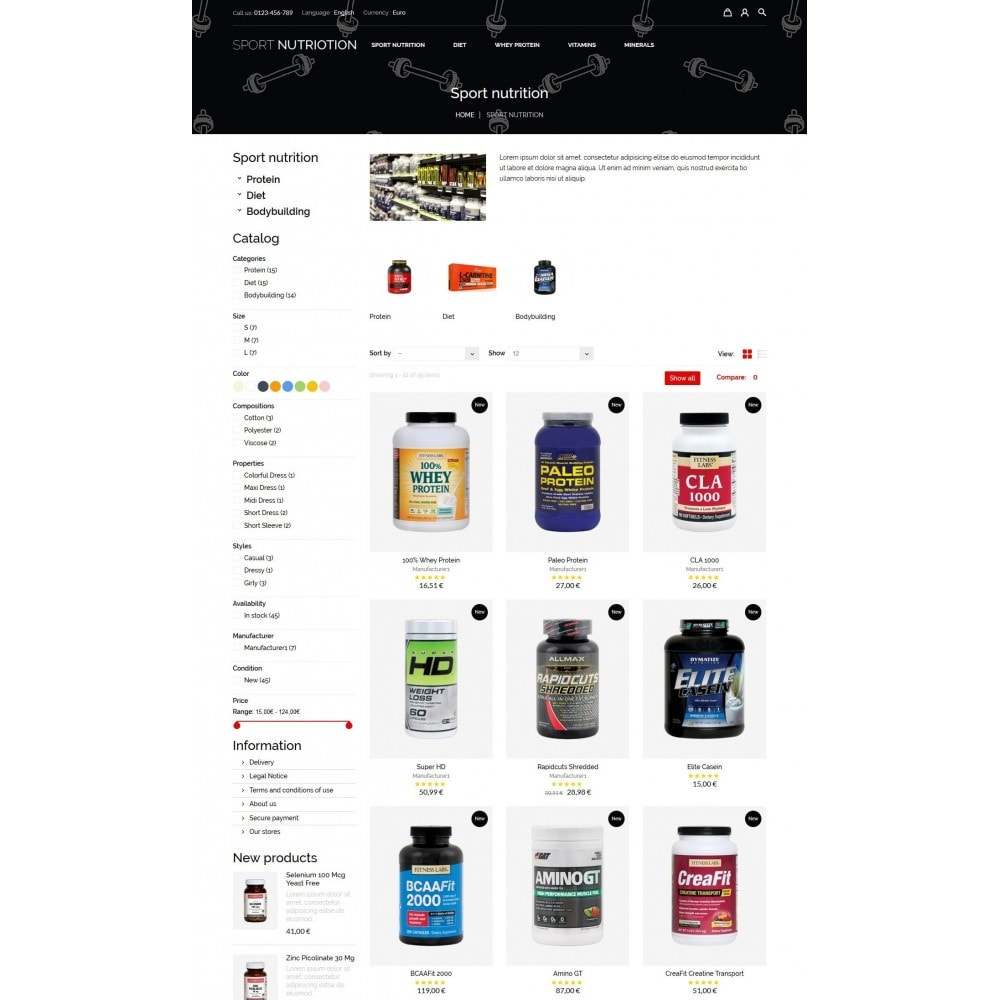 theme - Sports, Activities & Travel - Sport Nutrition Store - 7