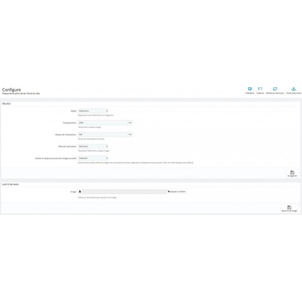 module - Personnalisation de Page - Diaporama en fond de site &  Background switcher - 3