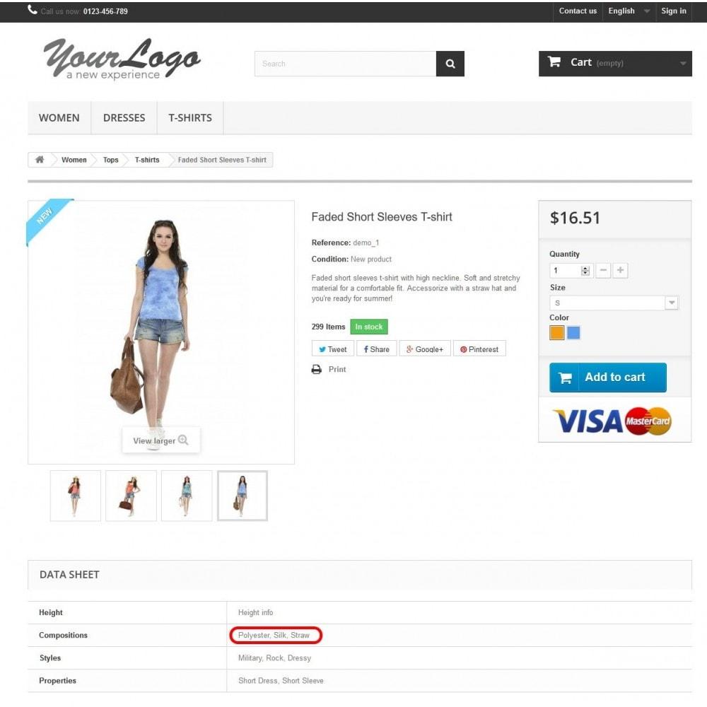 module - Versies & Personalisering van producten - Onbeperkt productkenmerk voor producten - 1