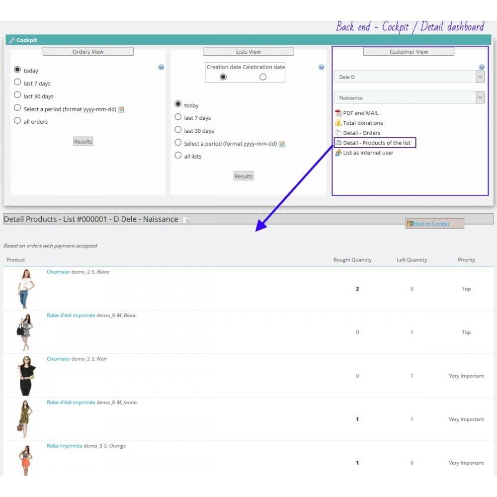 module - Verlanglijst & Cadeaubon - Gift List Pro - 19