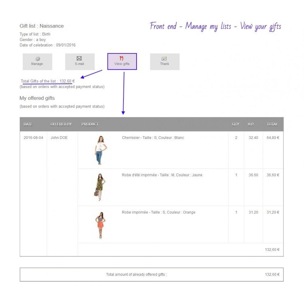 module - Lista de desejos & Vale-presente - Gift List Pro - 10