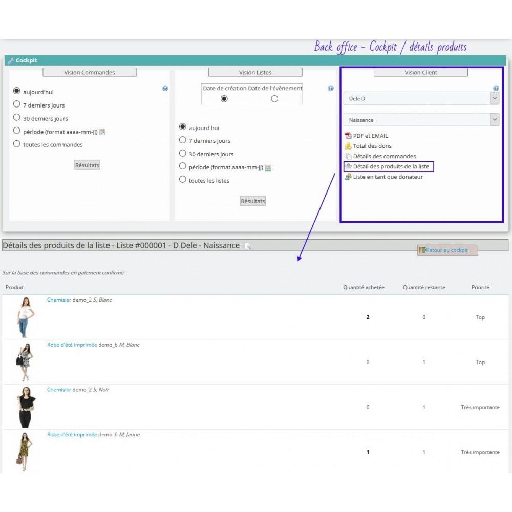 module - Liste de souhaits & Carte cadeau - Gift List Pro - 19