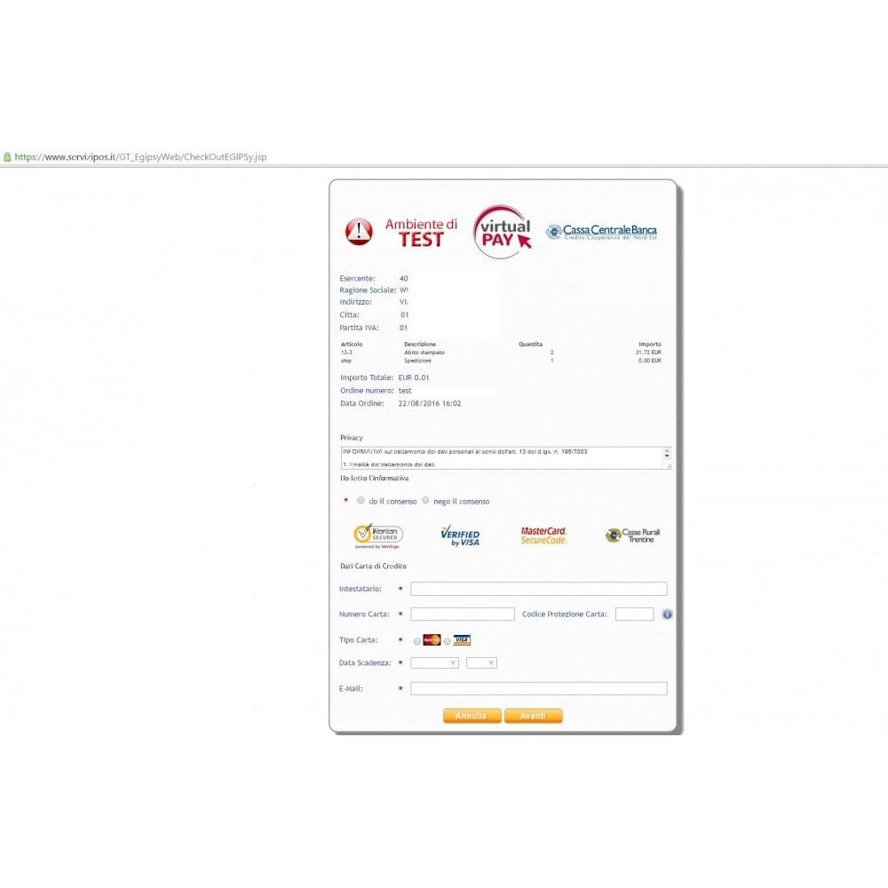 module - Pagamento con Carta di Credito o Wallet - VIRTUALpay Casse Rur.-Cred.Coop-B.Etica - Virtual Pay - 5