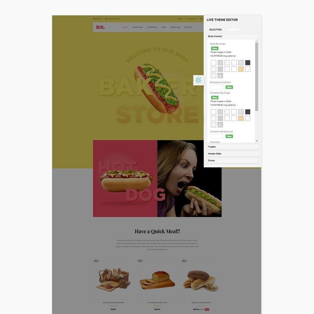 theme - Alimentation & Restauration - Leo Bis - 7