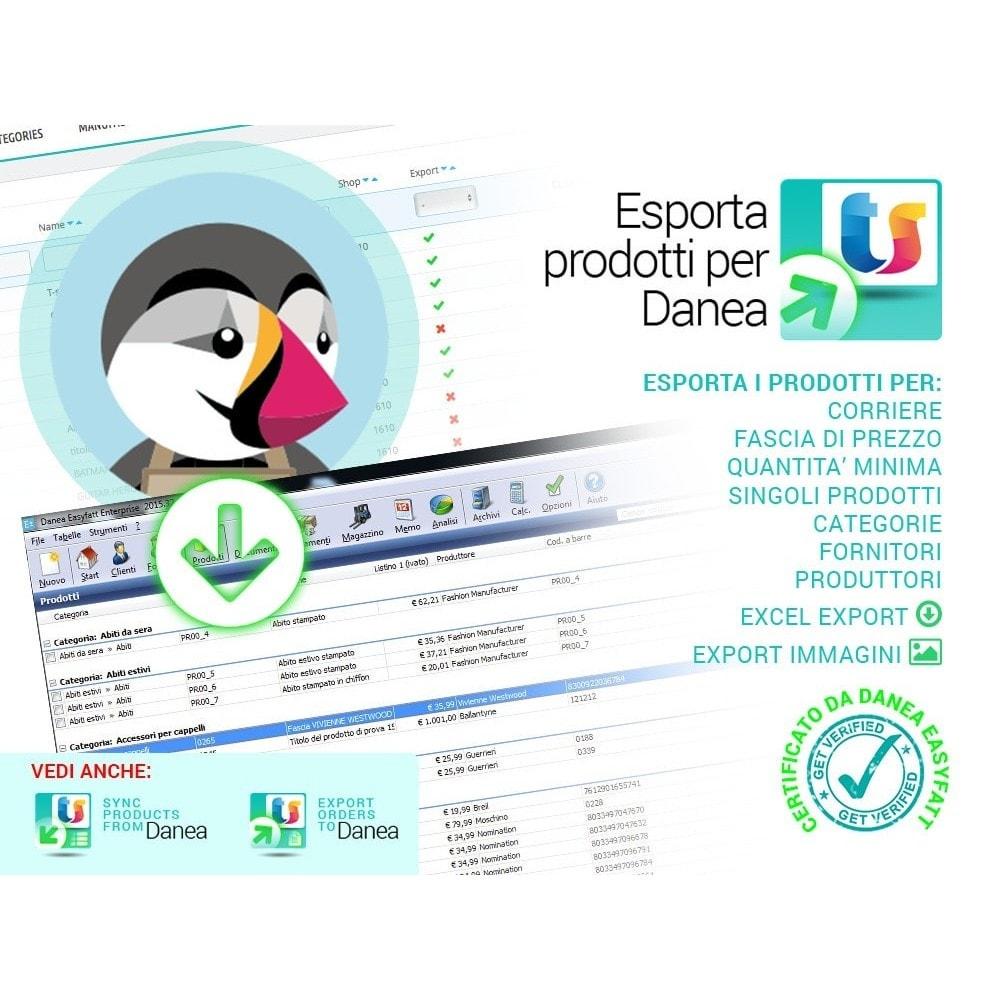 module - Data Import & Export - Esporta prodotti da Prestashop a Danea - 1