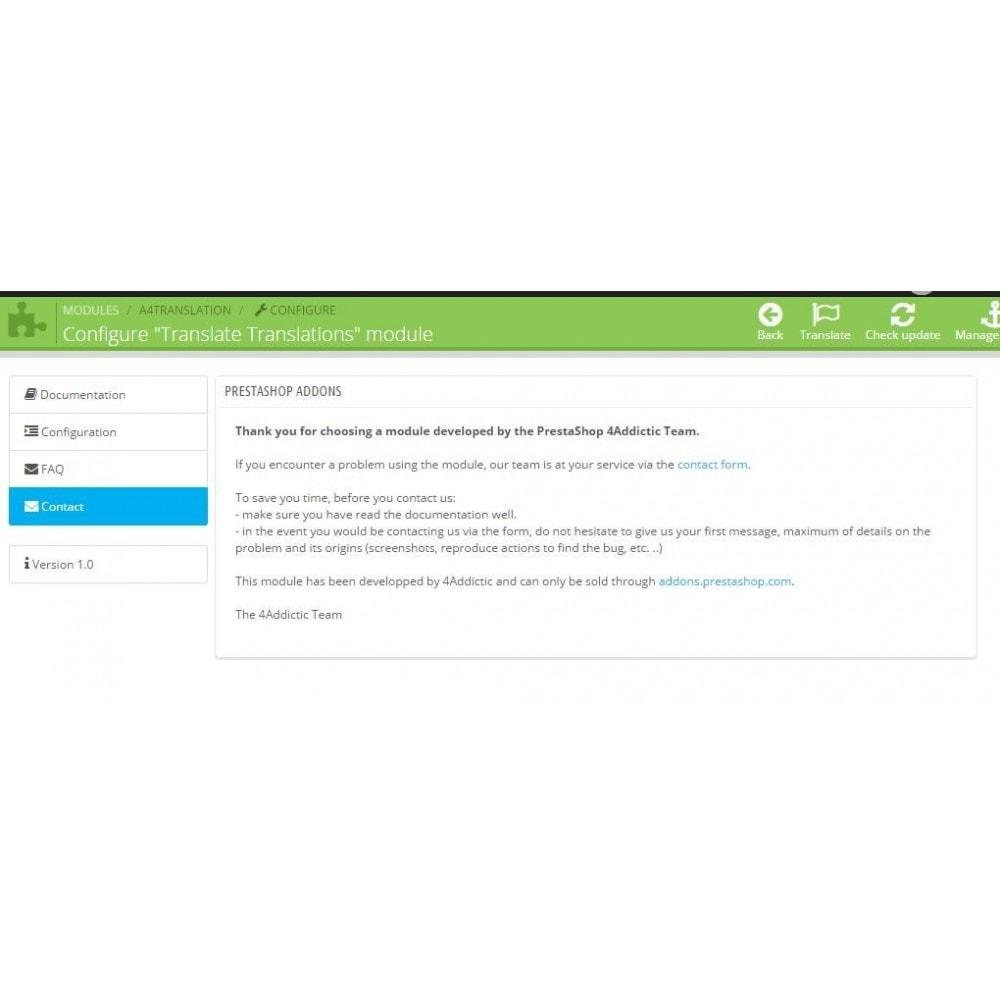 module - Moduli PrestaShop - Translate Translations - 4