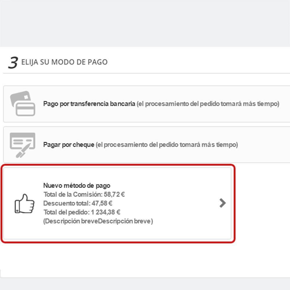 module - Otros métodos de pago - Personalizado método de pago - 10