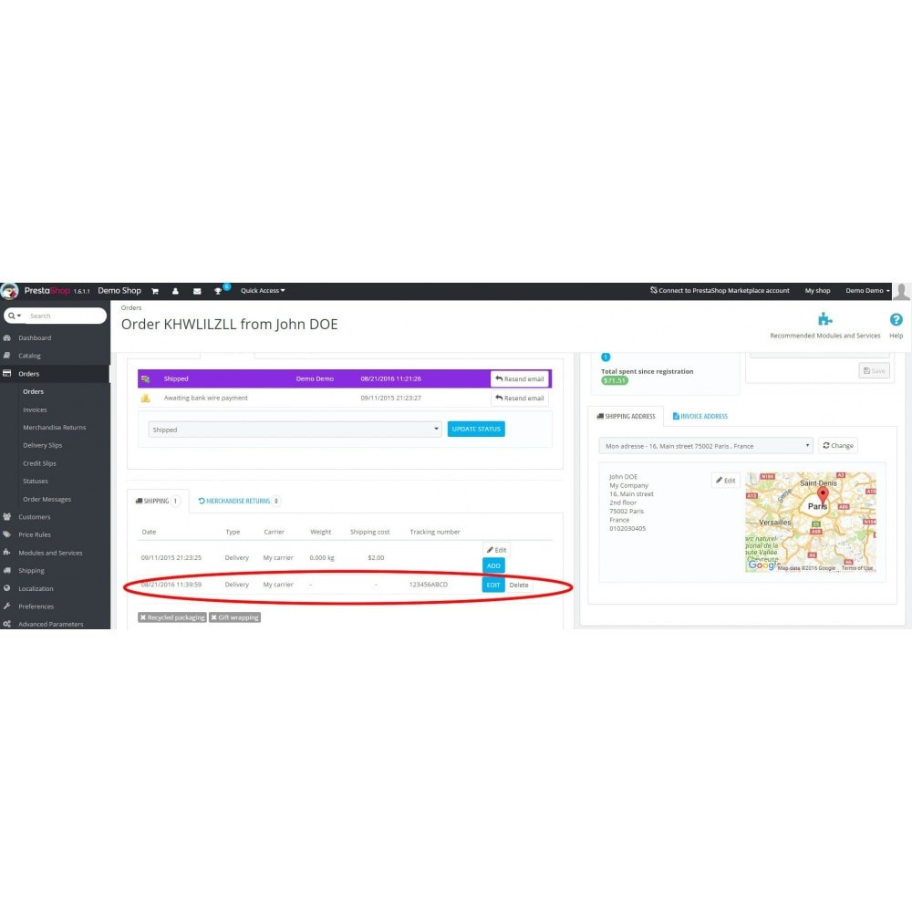 module - Delivery Tracking - Track Multiple Carriers & Multiple Tracking Numbers - 5