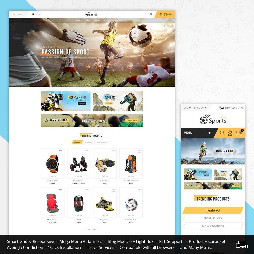 theme - Sport, Loisirs & Voyage - Sports Store - 1