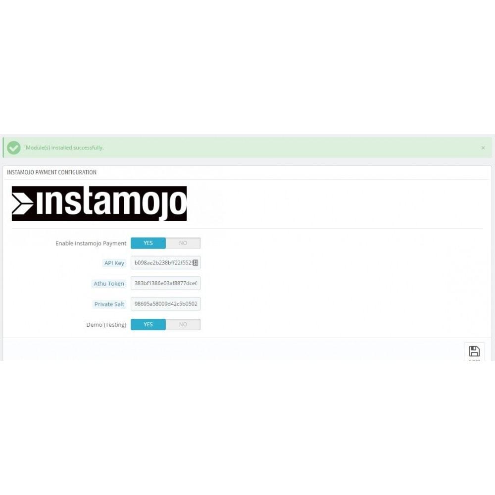 module - Pagamento con Carta di Credito o Wallet - InstaMojo - 1