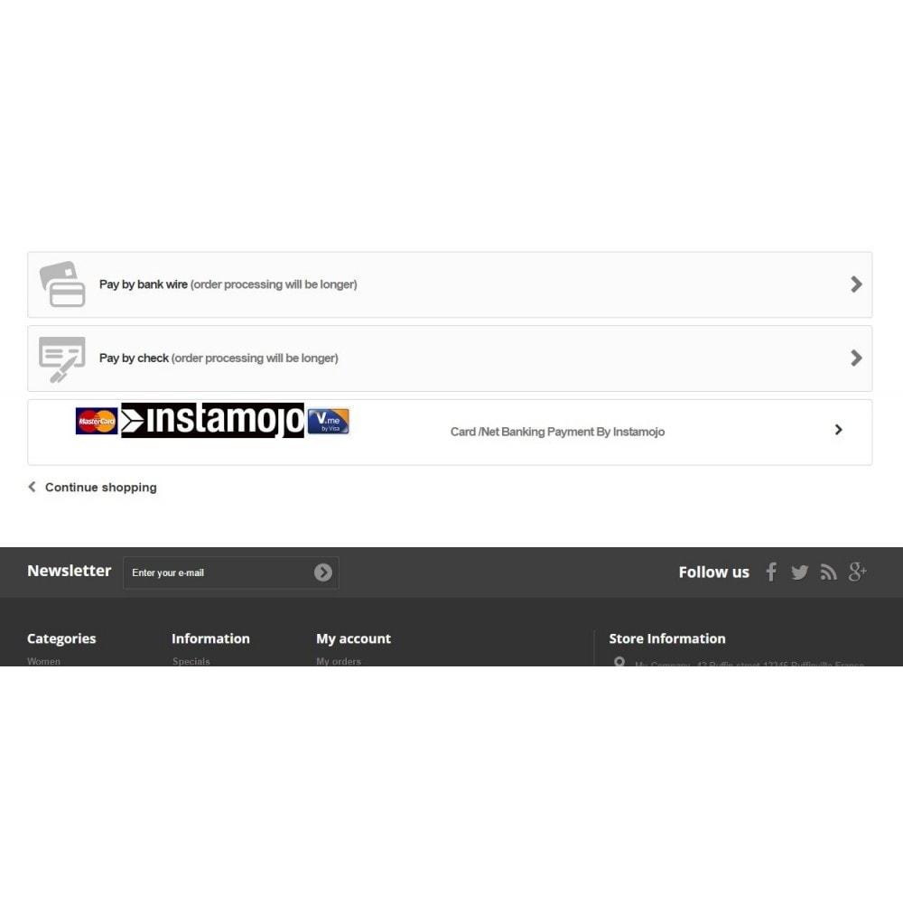 module - Pagamento con Carta di Credito o Wallet - InstaMojo - 2