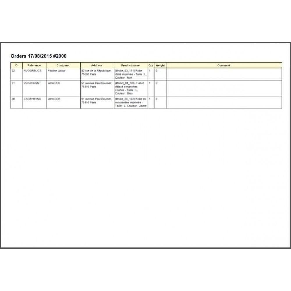 module - Préparation & Expédition - Colissimo Etiquetage (Officiel) / Sonice - 20