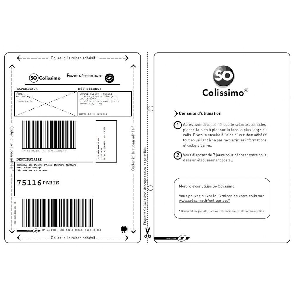module - Préparation & Expédition - Colissimo Etiquetage (Officiel) / Sonice - 22