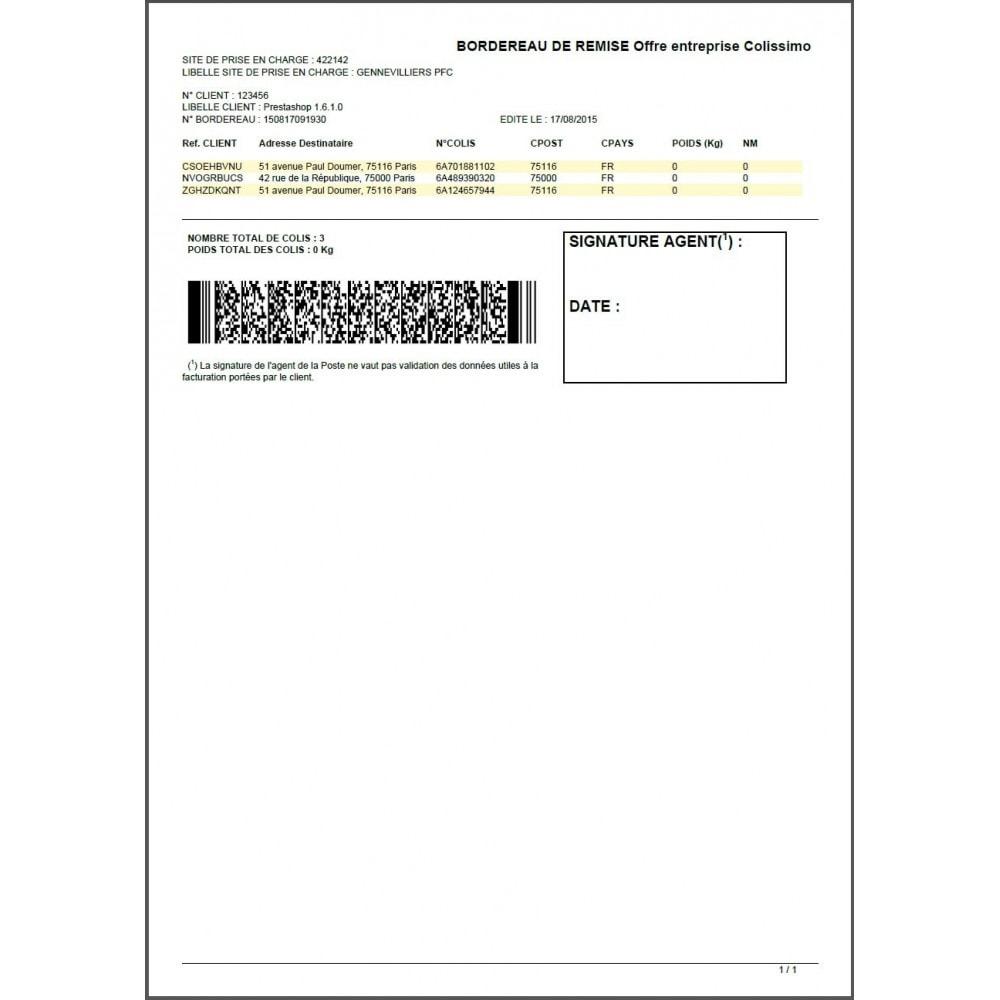 module - Préparation & Expédition - Colissimo Etiquetage (Officiel) / Sonice - 21