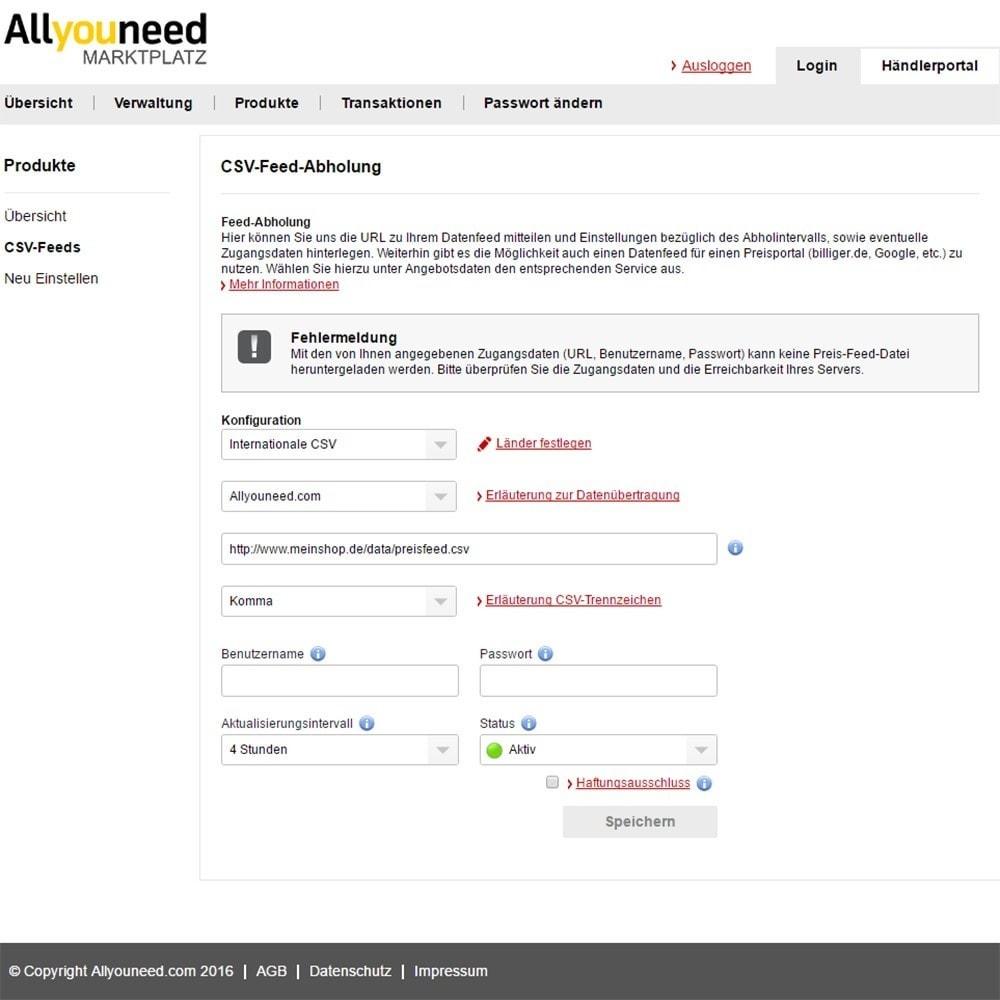 module - Platforma handlowa (marketplace) - Allyouneed Connector - 3
