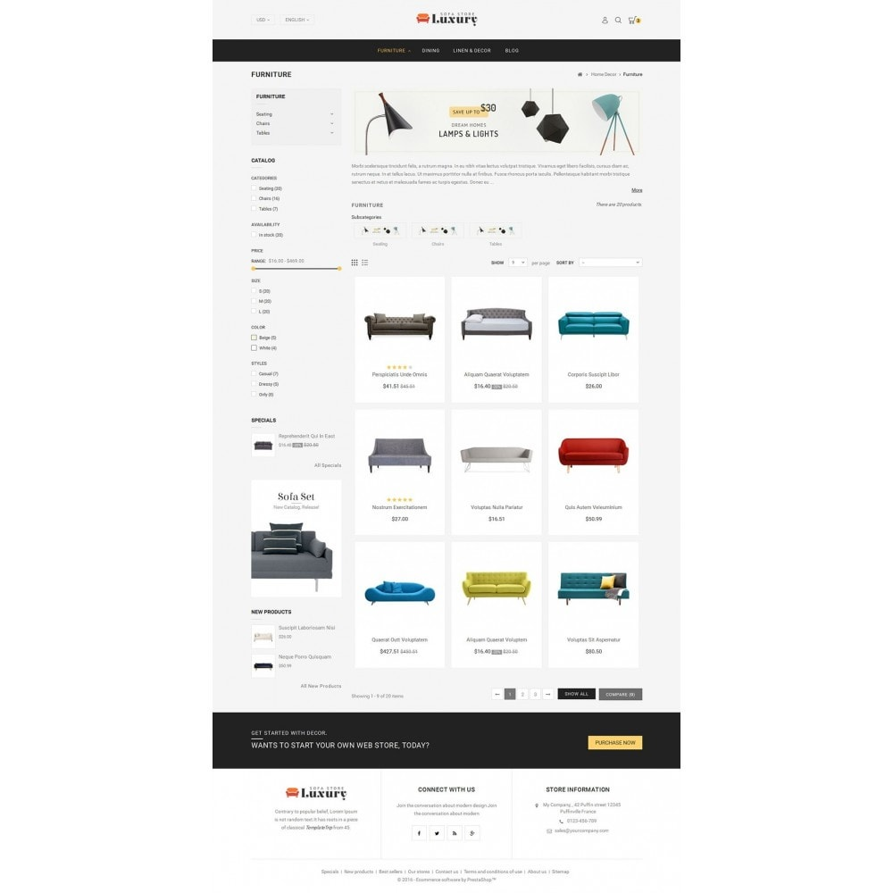 theme - Casa & Giardino - Luxury Sofa Store - 3