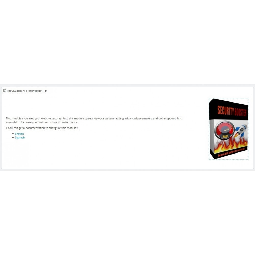 module - Rendimiento del sitio web - Security Booster - 1
