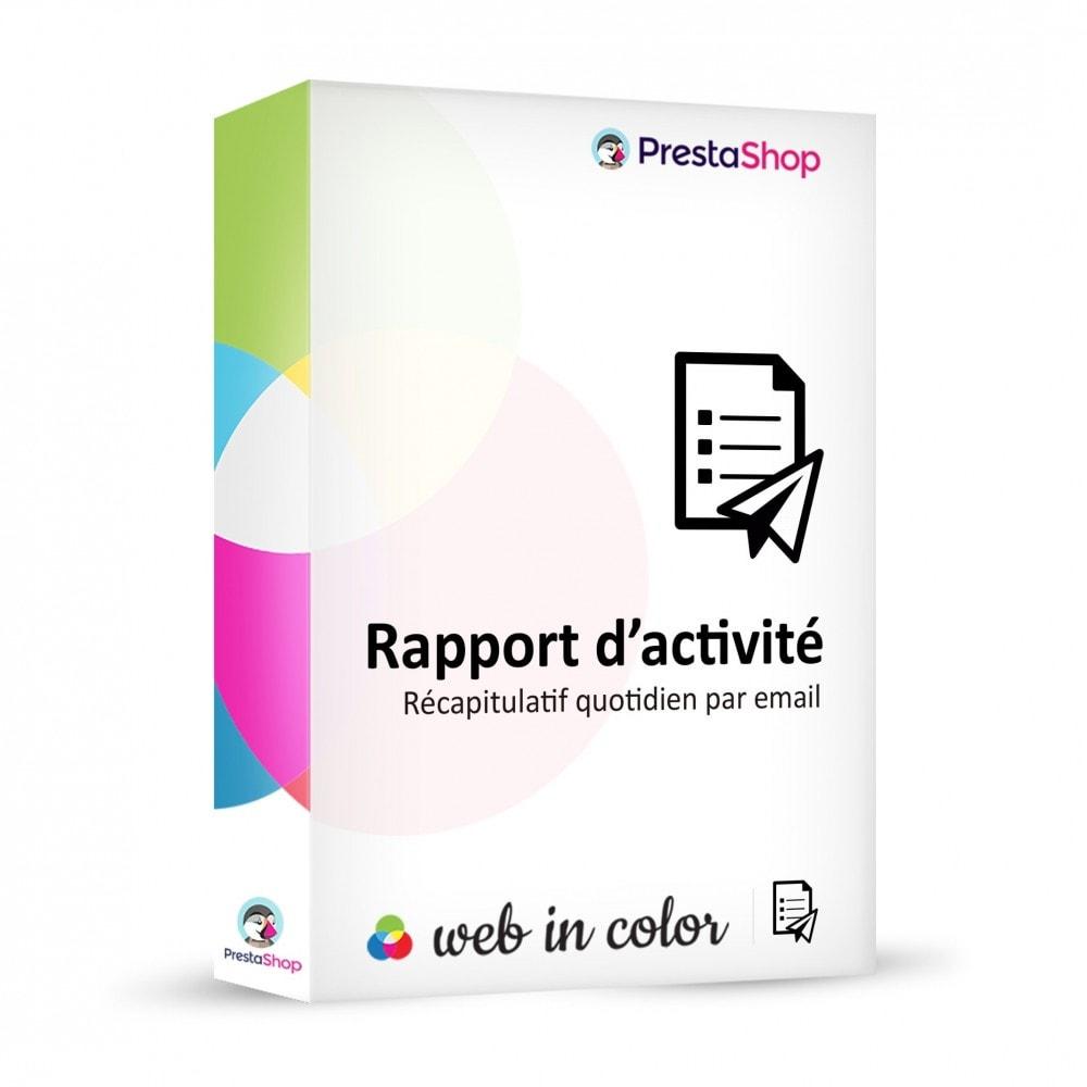module - Outils d'administration - Rapport d'activité - 1