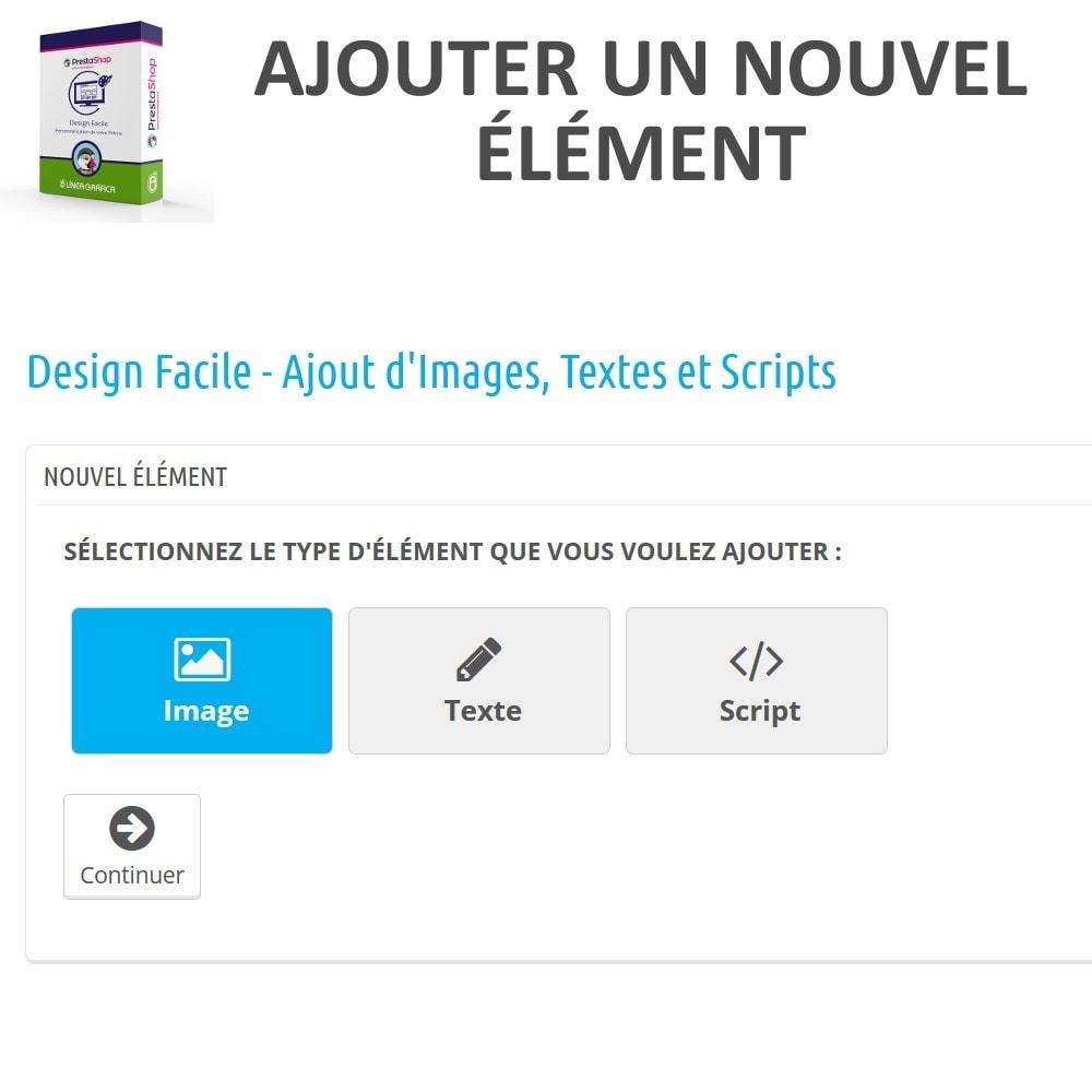 module - Personnalisation de Page - Design Facile - Ajouter Images, Textes et Scripts - 2
