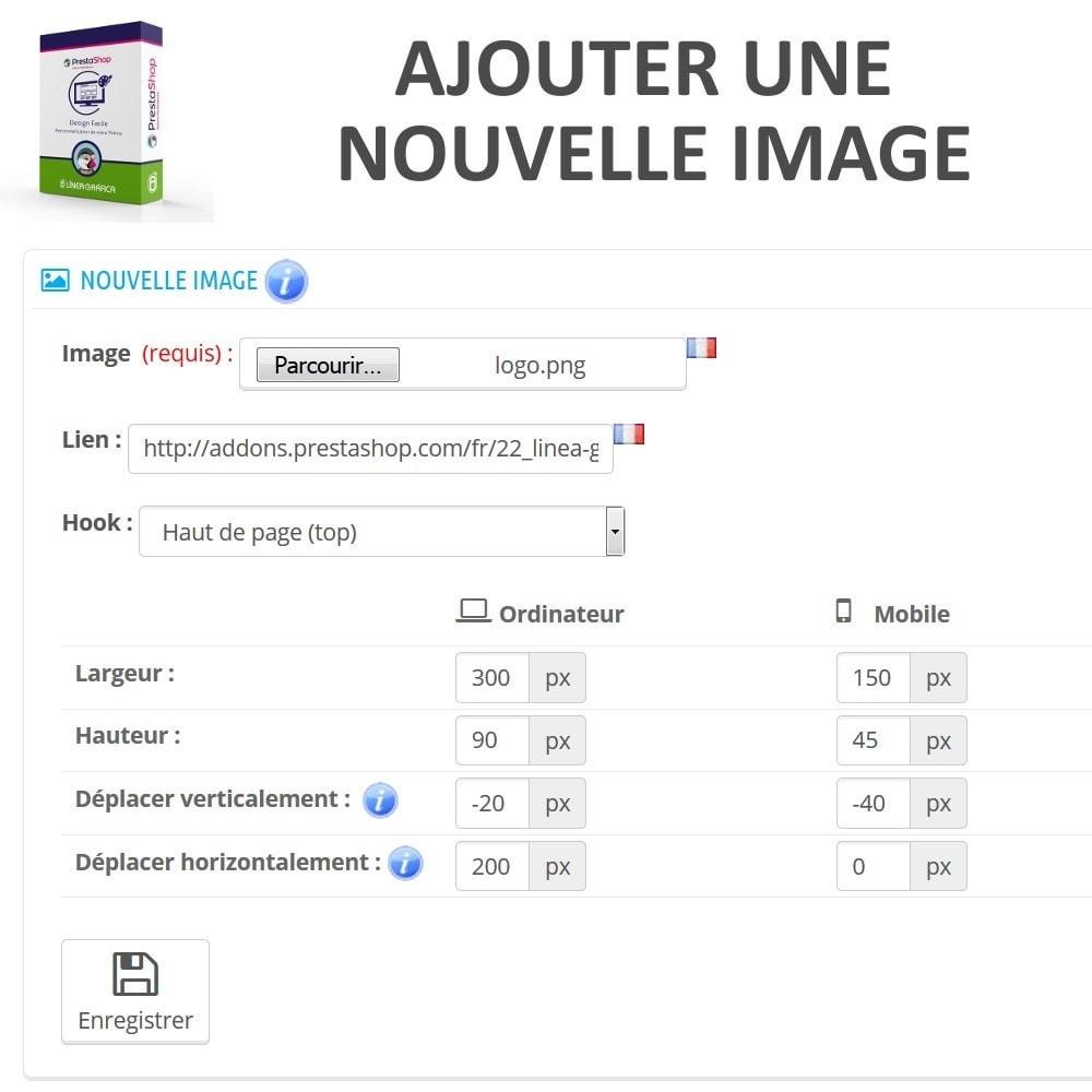 module - Personnalisation de Page - Design Facile - Ajouter Images, Textes et Scripts - 3