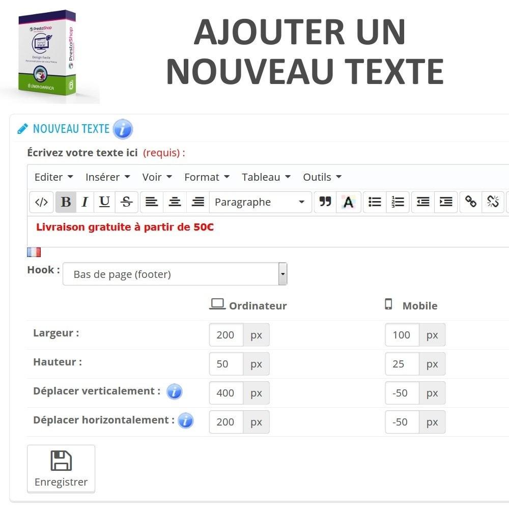 module - Personnalisation de Page - Design Facile - Ajouter Images, Textes et Scripts - 4