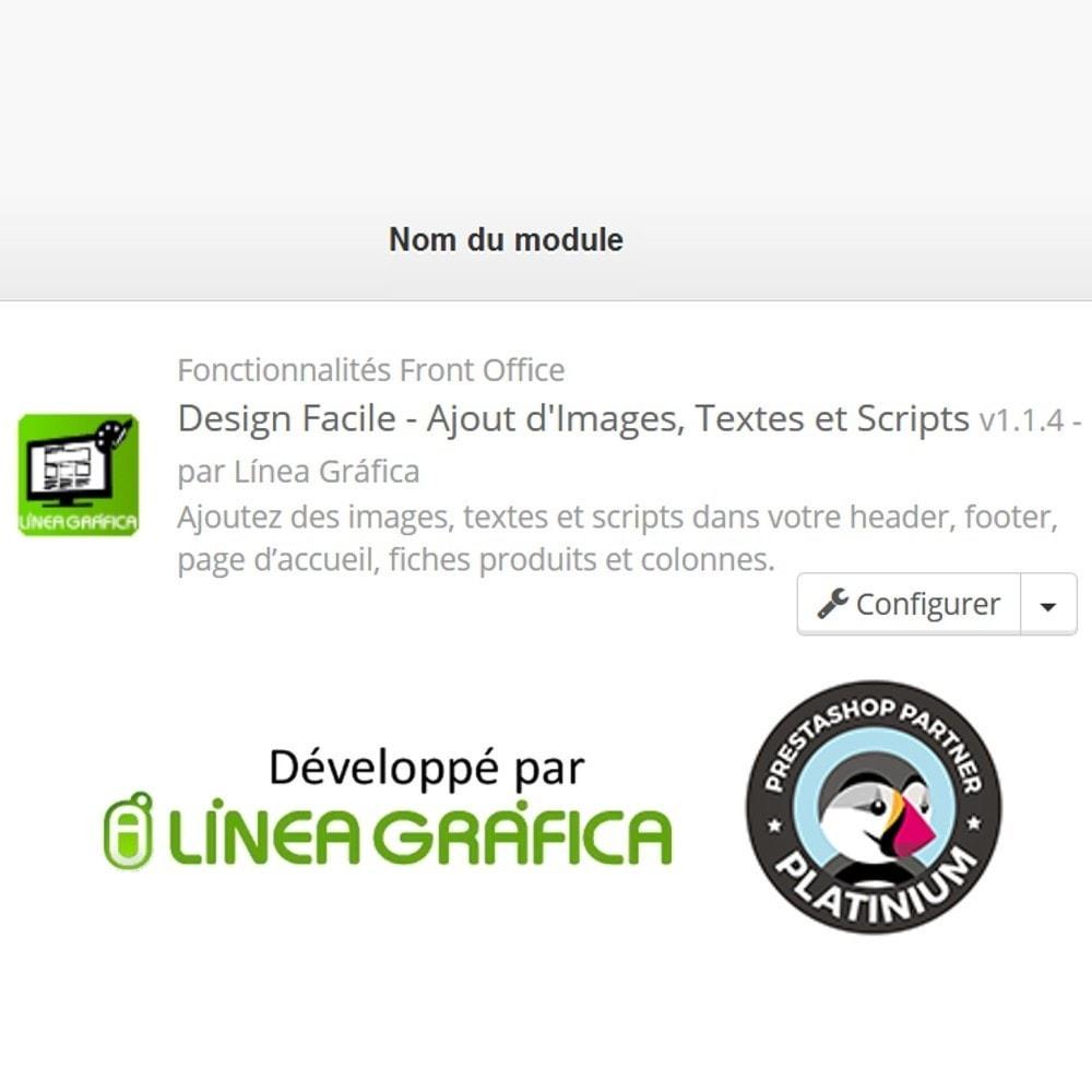 module - Personnalisation de Page - Design Facile - Ajouter Images, Textes et Scripts - 9