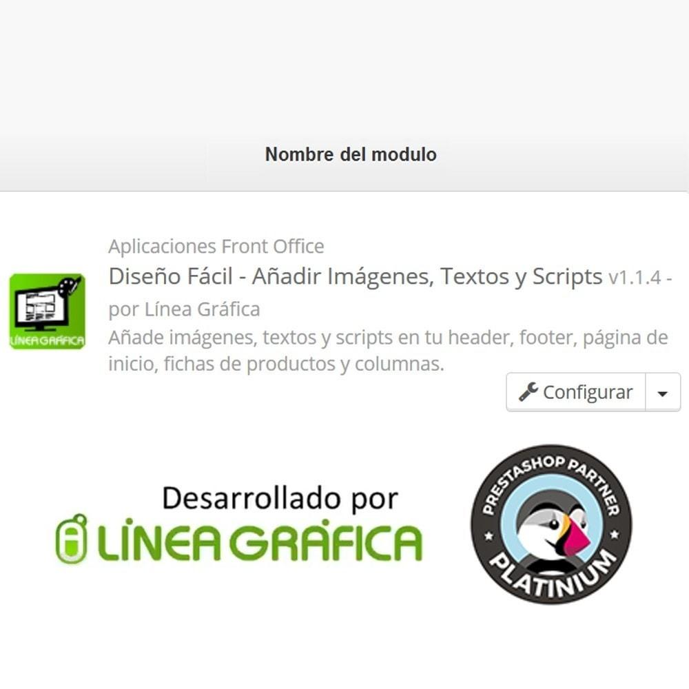 module - Personalización de la página - Diseño Fácil - Añadir Imágenes, Textos y Scripts - 9