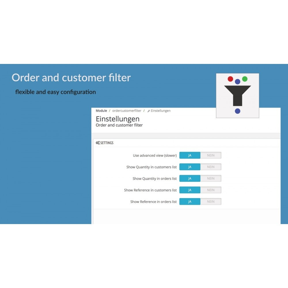 module - Orderbeheer - Order and customer filter - 3