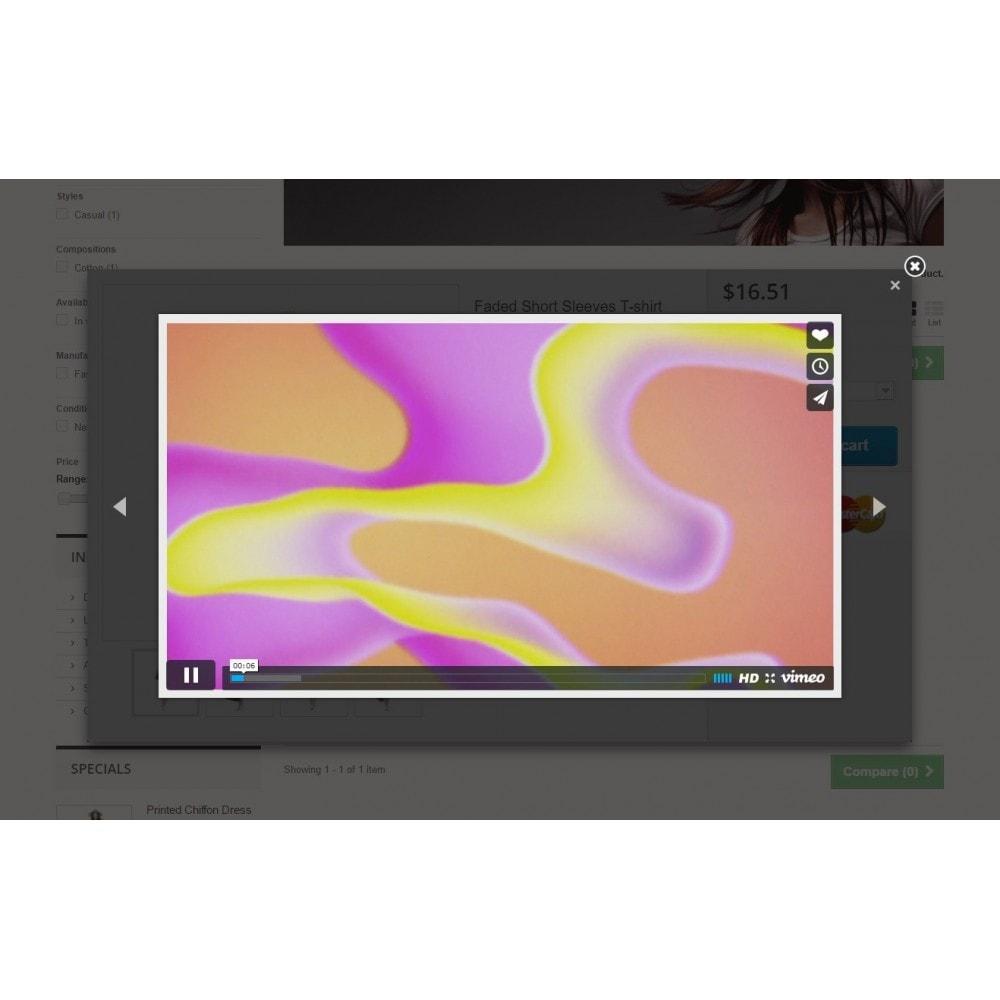 module - Vidéo & Musique - Ultimes vidéos de produits (YouTube, Vimeo, et plus) - 6
