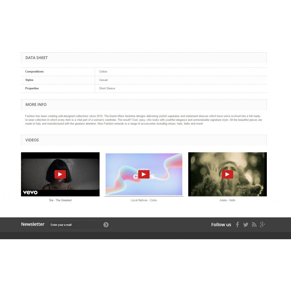module - Vídeos & Música - Product Videos Ultimate for YouTube, Vimeo, and more - 3