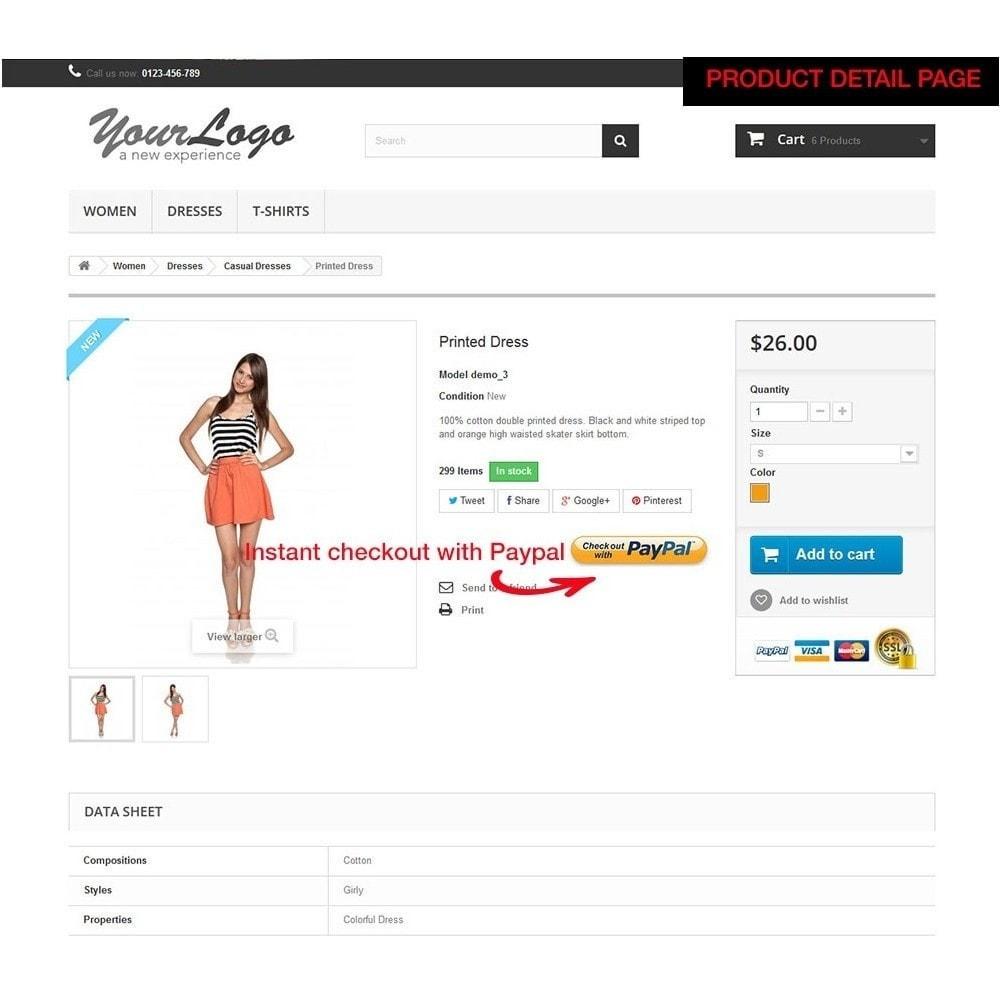 module - Szybki proces składania zamówienia - Paypal Instant Checkout - 6