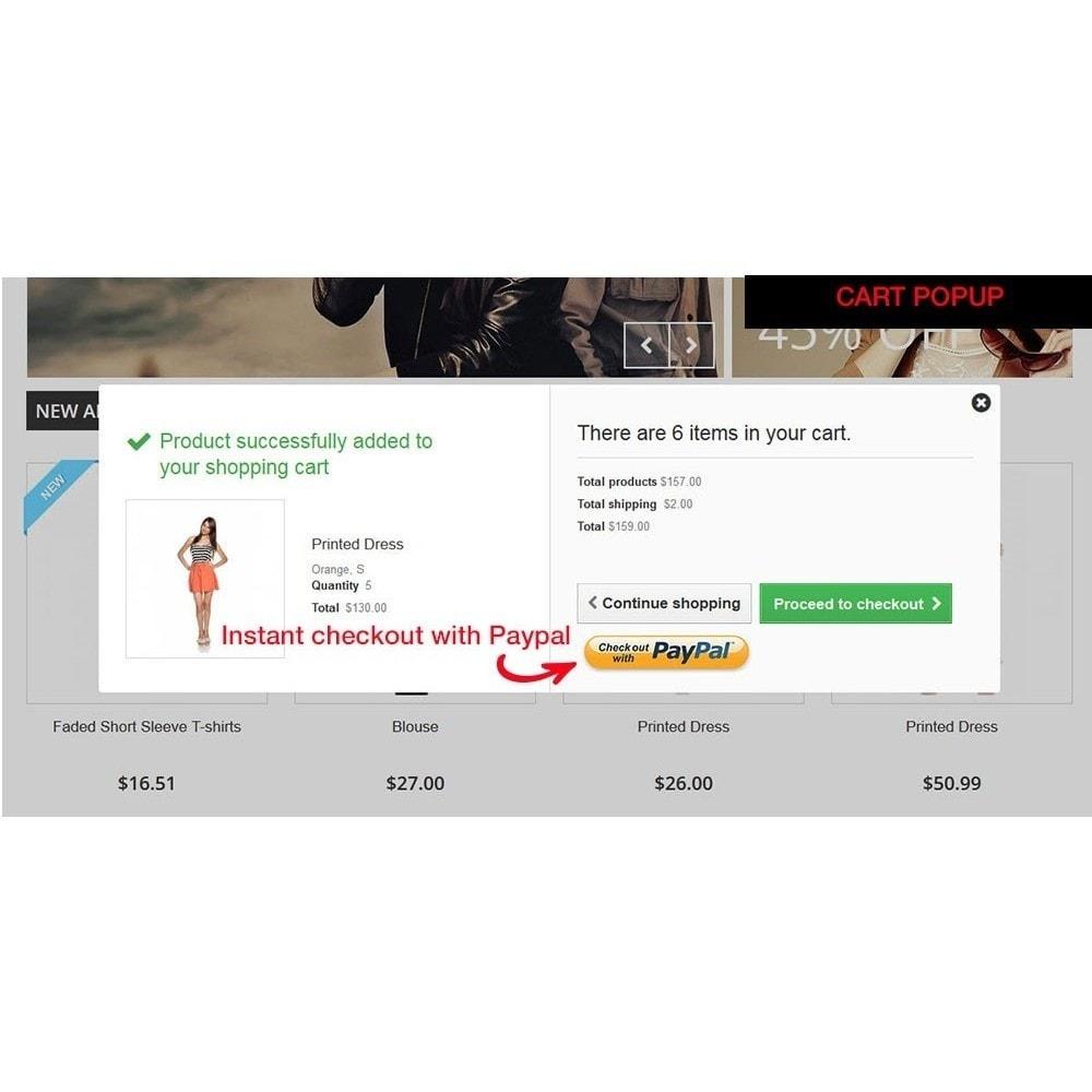 module - Express Checkout Process - Paypal Instant Checkout - 7