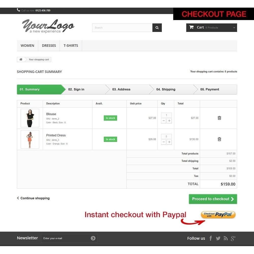 module - Szybki proces składania zamówienia - Paypal Instant Checkout - 10
