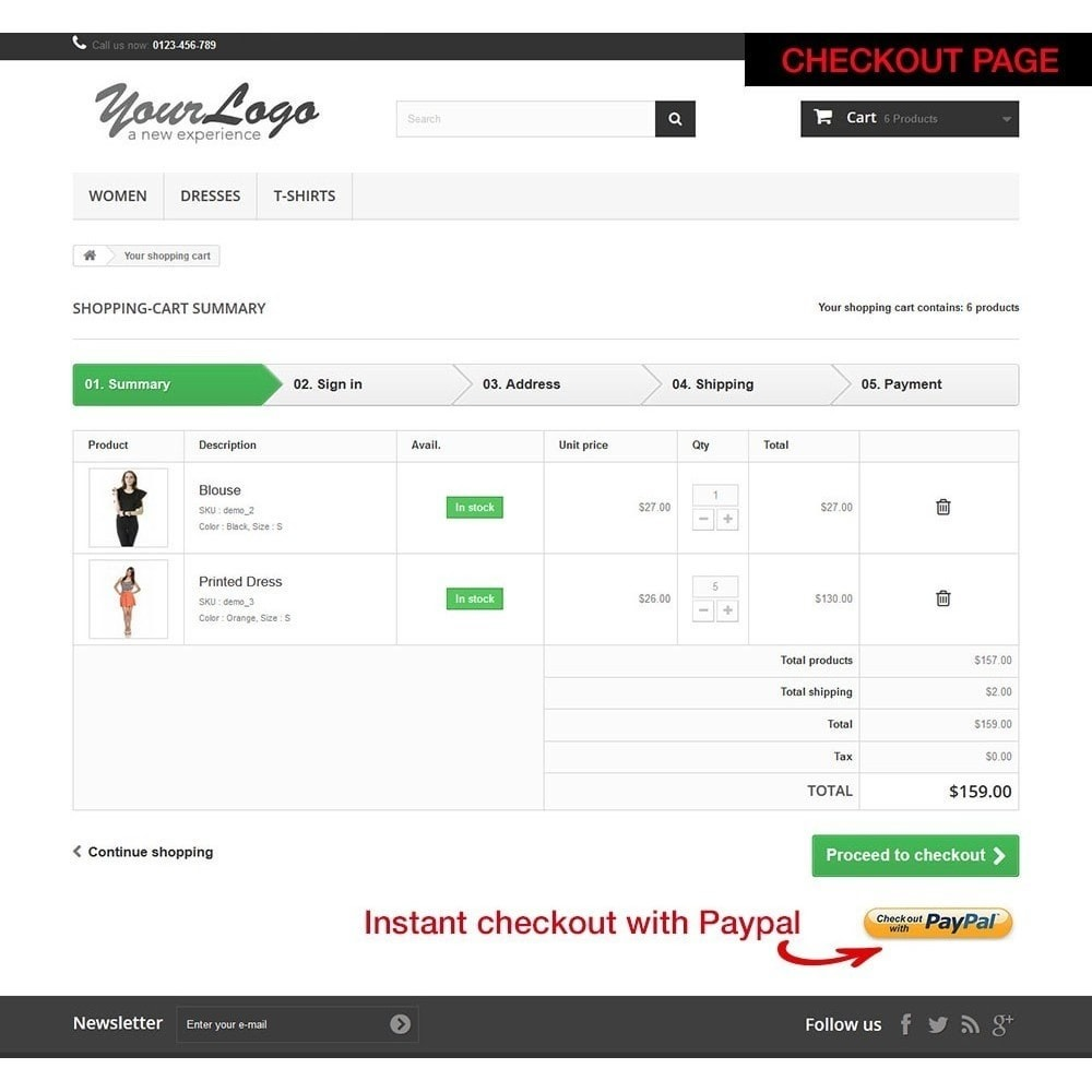 module - Express Checkout Process - Paypal Instant Checkout - 10